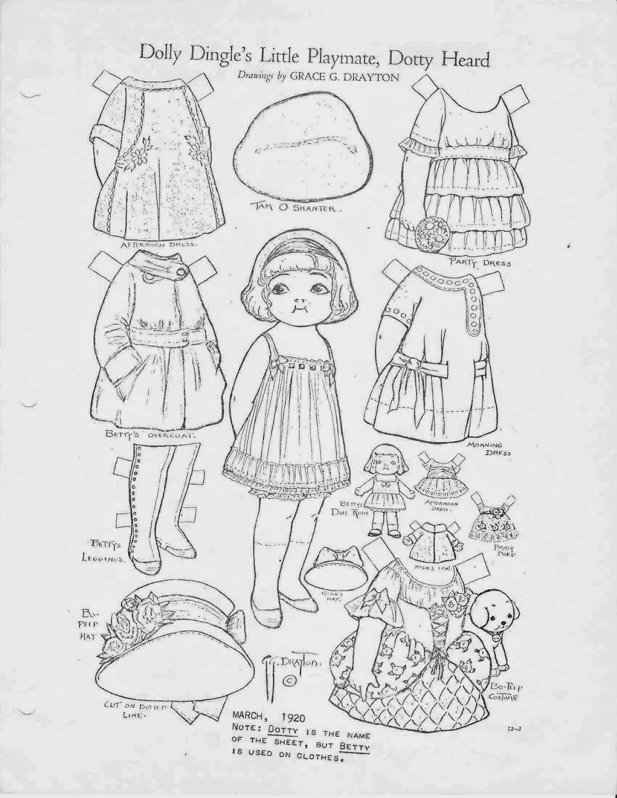 Dolly Dingle Identification Guide Paper Dolls Vintage Paper Dolls Vintage Coloring Books