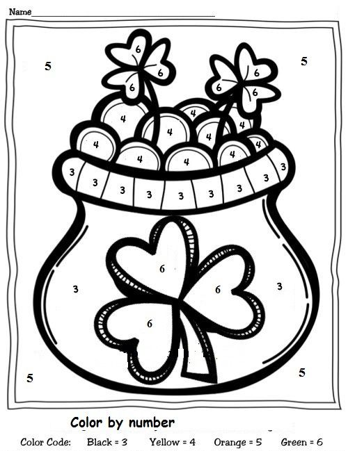 color by number st patrick\'s day worksheet (1) | Crafts and ...