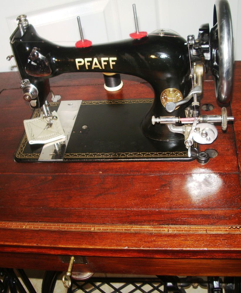 Powerful PFAFF Model 11 Antique sewing machines,treadle,cabinet ...