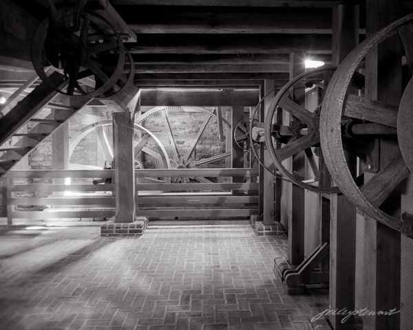 Hall of Wheels, Aldie Mil Limited Edition Original fine art photograph from a 4x5 B&W negative.