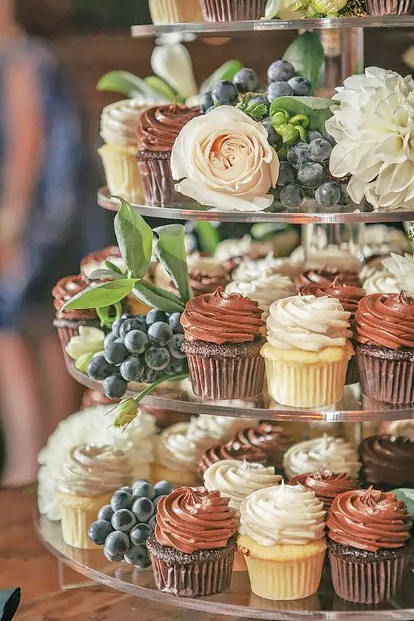 Cake And Cupcake Display Ideas Google Search Wedding Cupcakes Wedding Desserts Wedding Cakes With Cupcakes