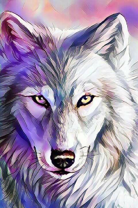 Wolf Art In 2019 Wolf Painting Wolf Artwork Wolf Wallpaper
