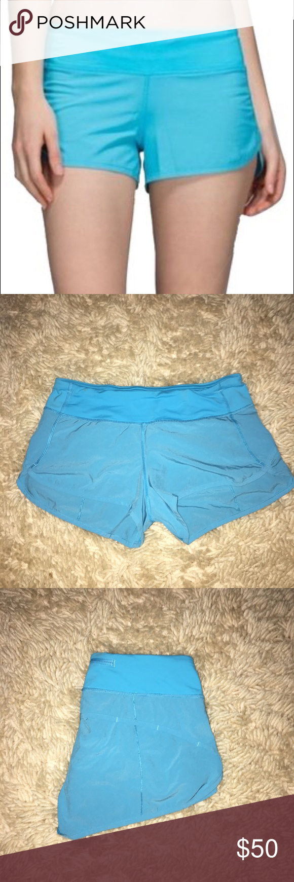 "FLASH SALE!Lululemon speed short 2.5""size 6: OFFER Lululemon speed short 4 way stretch 2.5"" in seam. I haven't lost enough weight to look cute in these. They have only been worn once. Great condition like new. lululemon athletica Shorts"