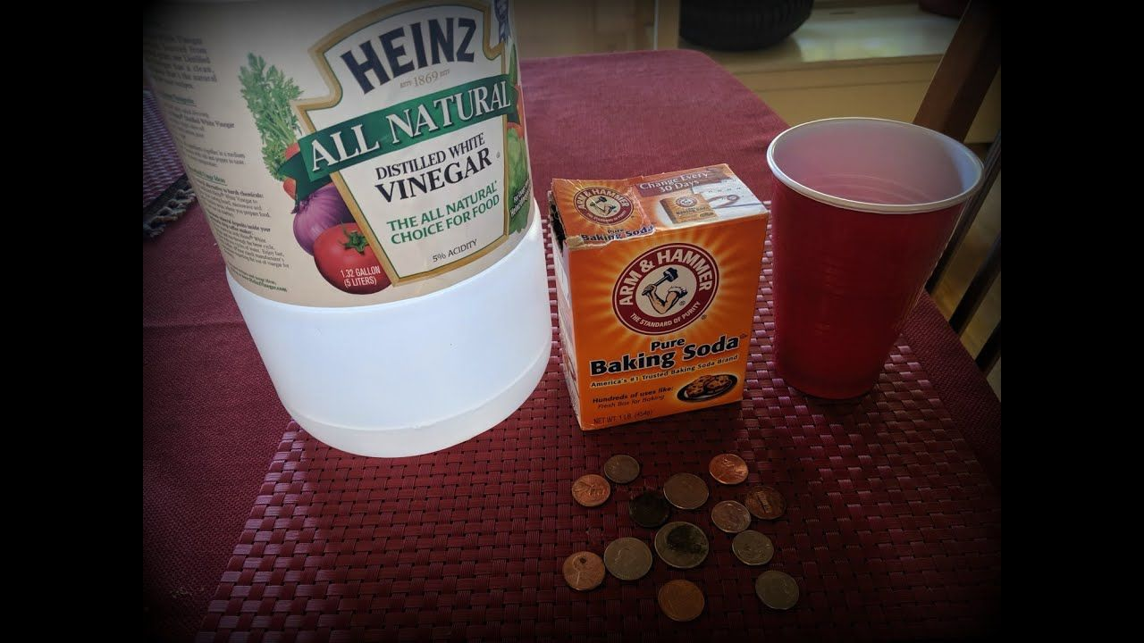 Wondering if baking soda & vinegar will clean old pennies