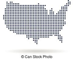 Eps Vector Of United States Patriotic Map Graphic Vector Design