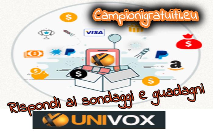 Guadagna online con il panel di sondaggi Univox