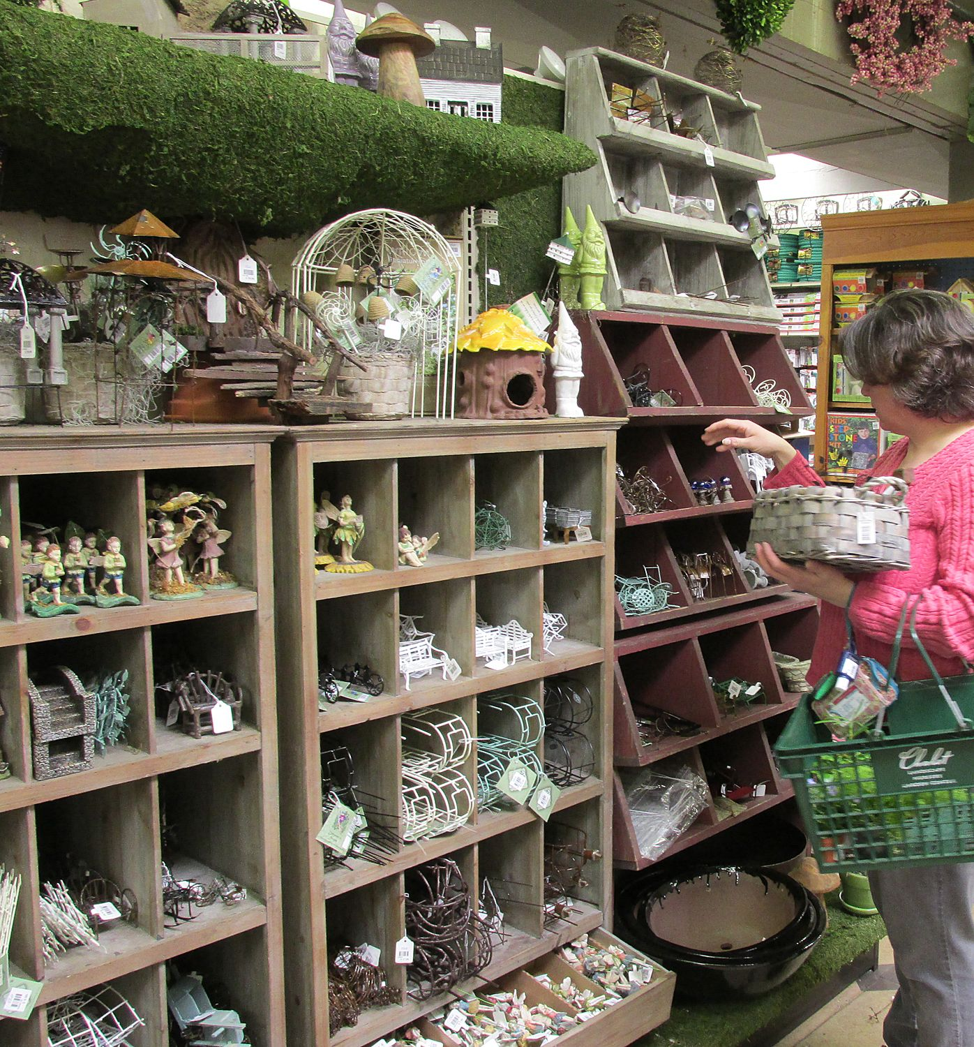 Great way to display miniature and fairy garden items in