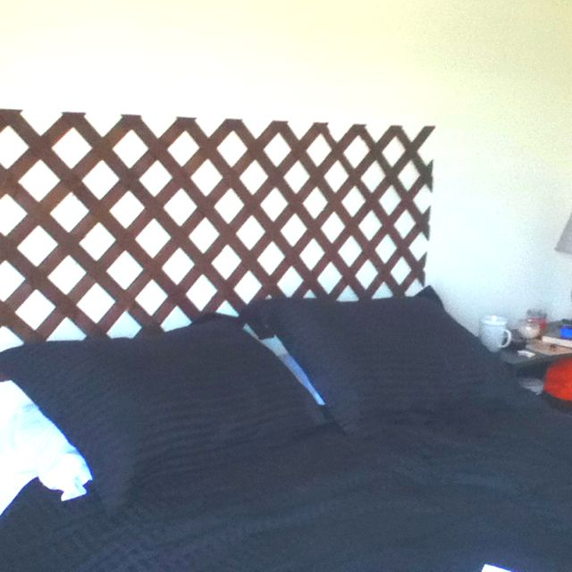 Lattice Headboard Stained It Myself And Cheap Lattice Headboard Home Diy Headboard