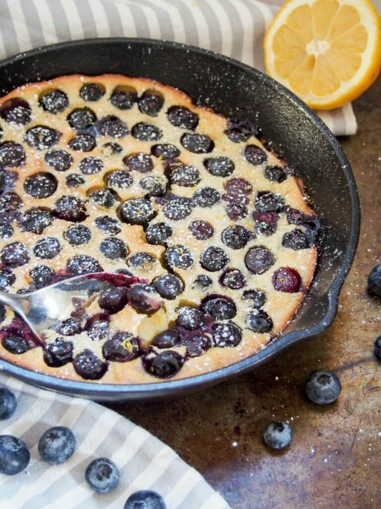 Blueberry clafoutis is a super easy, delicious French