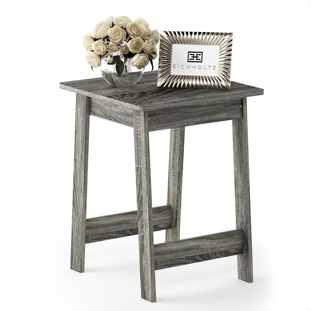 Furinno Beginning French Oak Grey End Table End Tables French
