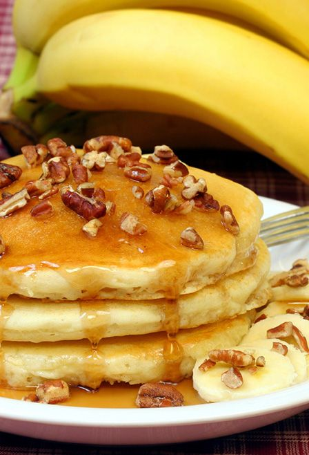 Banana Sour Cream Pancakes Recipe Food Recipes Yummy Food Breakfast Dishes