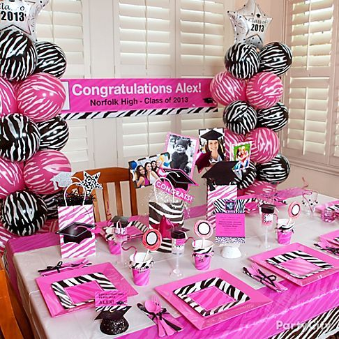 pink zebra graduation party ideas party city graduation party
