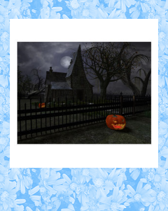 Witch Cottage with Pumpkin Lantern Postcard | Zazzle.com #witchcottage
