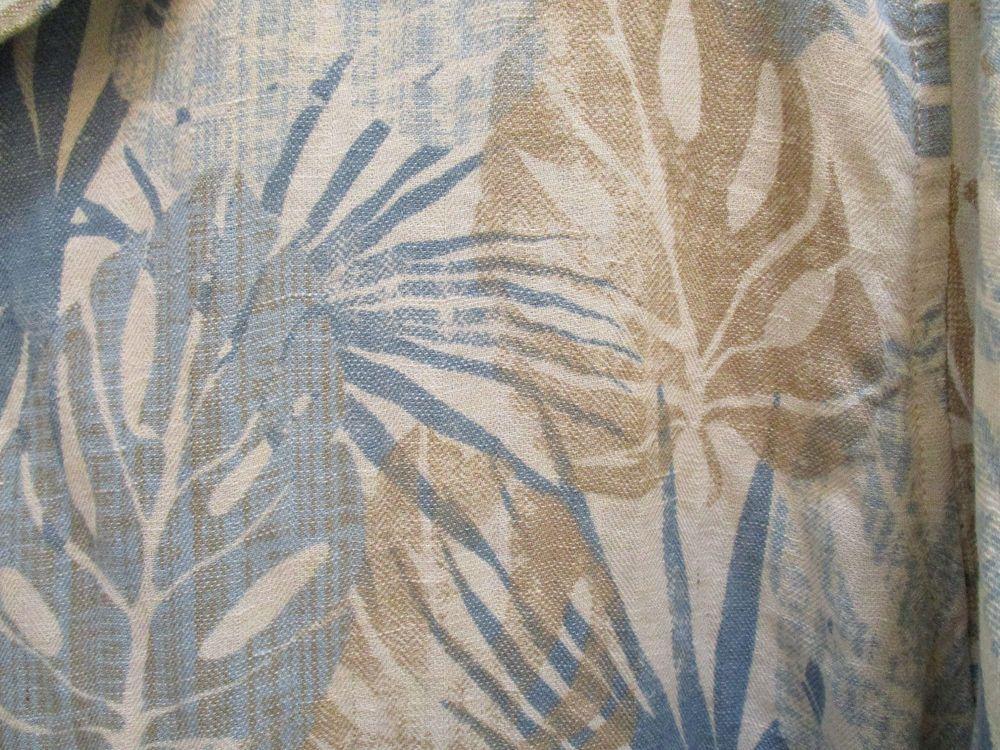 Jimmy Buffett Seaplane Margaritaville Silk Linen Mens 2XL Hawaiian Aloha Shirt  #Margaritaville #Hawaiian