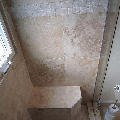 Classic Travertine Tile Shower Design Ideas, ... | Bathroom redo ideas