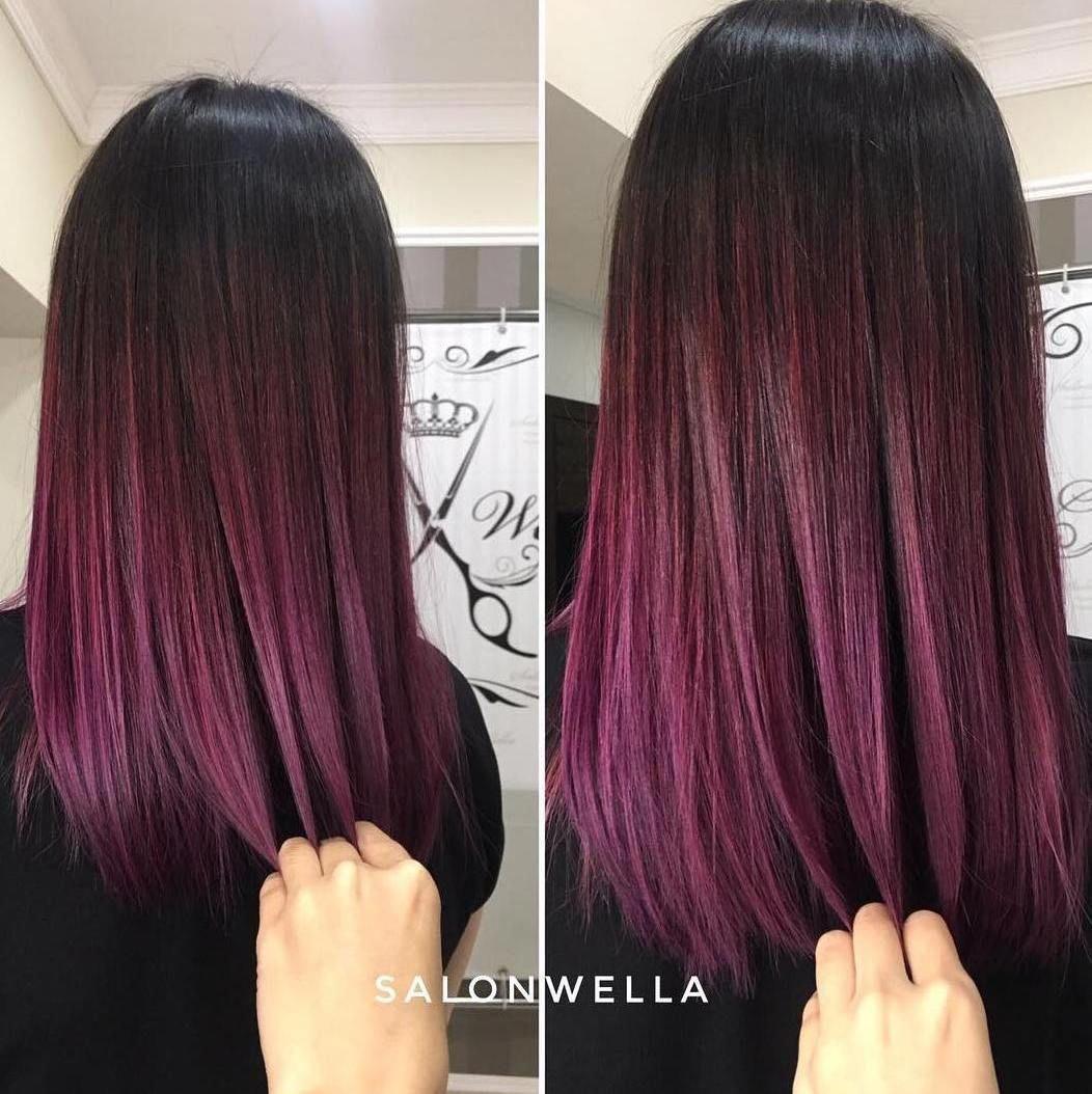 Black Burgundy Purple Fade Hairdye In 2020 Hair Inspiration Color Hair Inspo Color Burgundy Hair