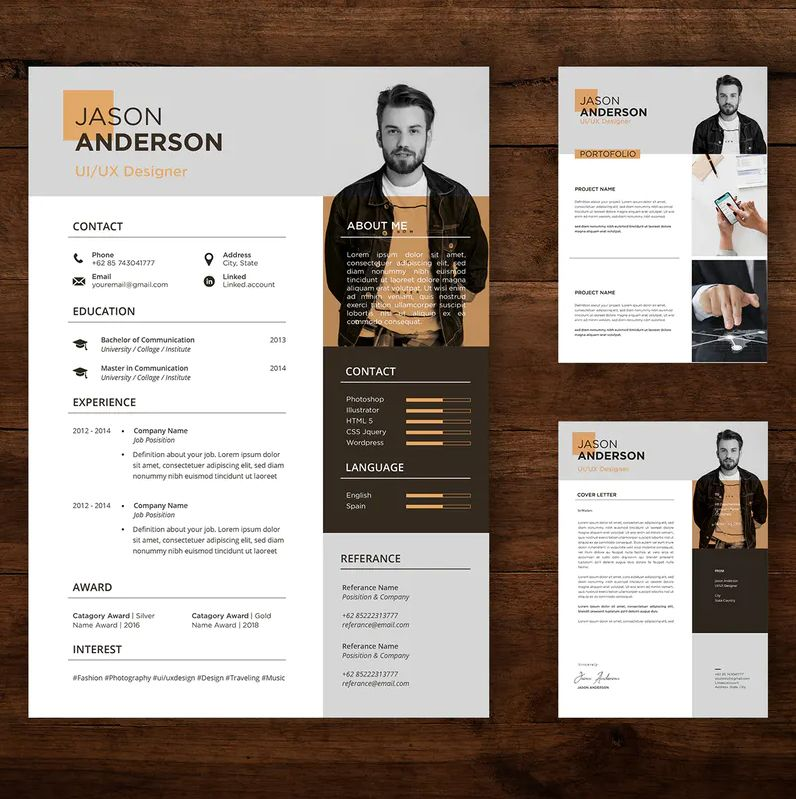 Professional Cv And Resume Template Ai Psd Di 2020 Desain Resume Desain Cv Desain