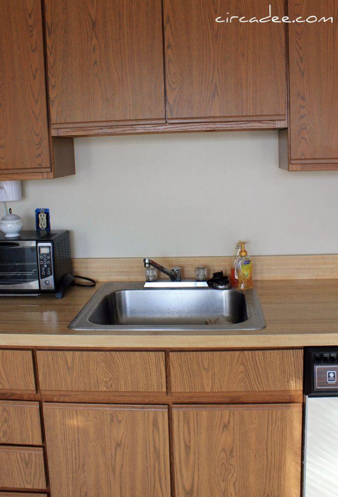 kitchen before photo | Laminate kitchen cabinets, Painting ...