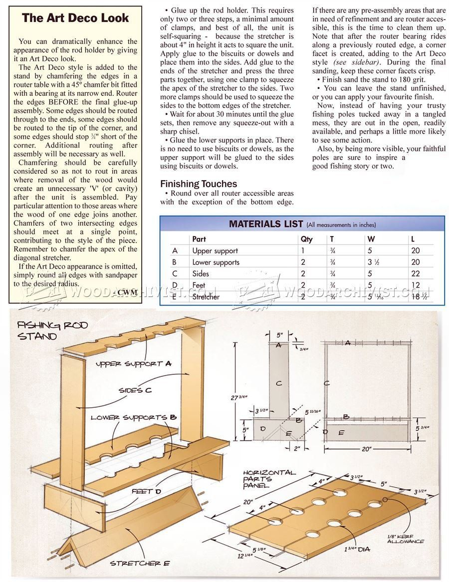 DIY Fishing Rod Stand - Woodworking Plans | ideas for work shop ...