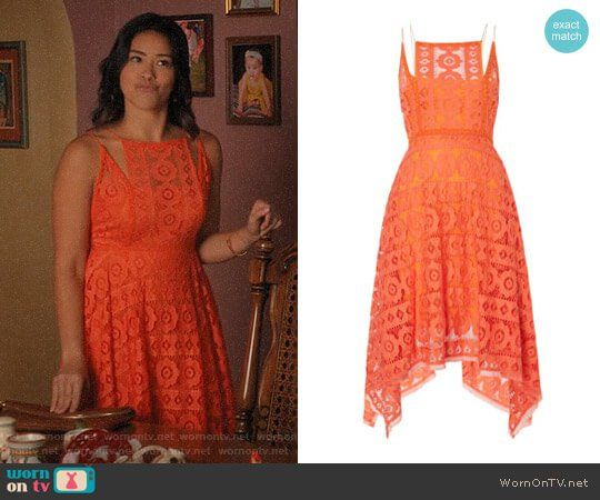 Jane S Orange Lace Dress On The Virgin Outfit Details Https