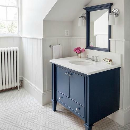 Superb Navy Bathroom Decorating Ideas