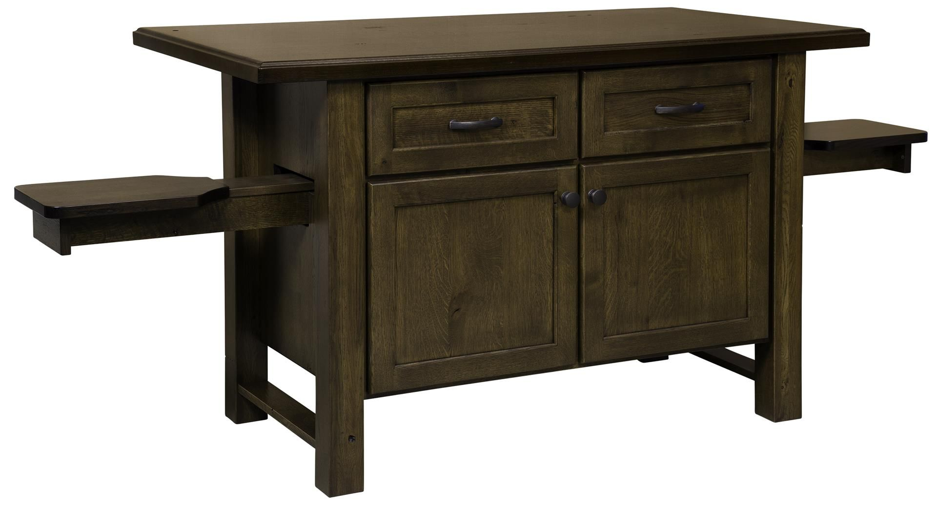 Solid Wood Kitchen Island with Pull-Out Seats   Solid wood ...