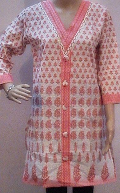 "Kurti top blouse Tunic long sleeve Indian dress Kurtis 40"" M 6/8 dark pink #Handmade #Tunic #Clubwear"