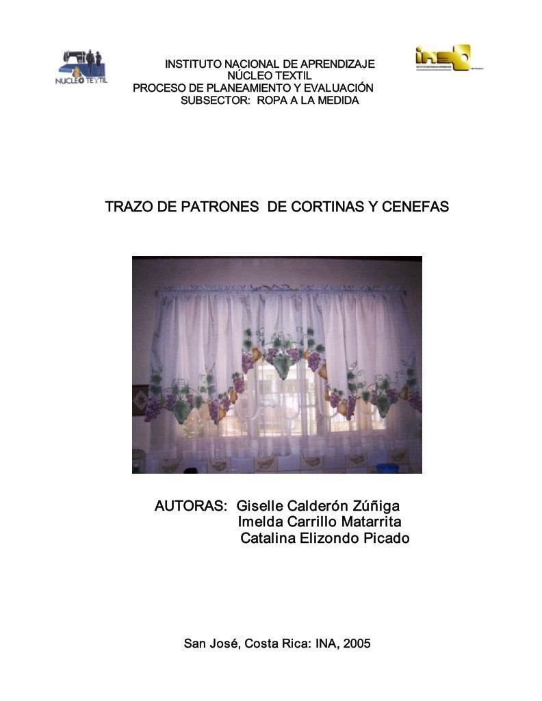 TRAZO DE PATRONES DE CORTINAS Y CENEFAS ... - OIT/Cinterfor-TRAZO DE ...