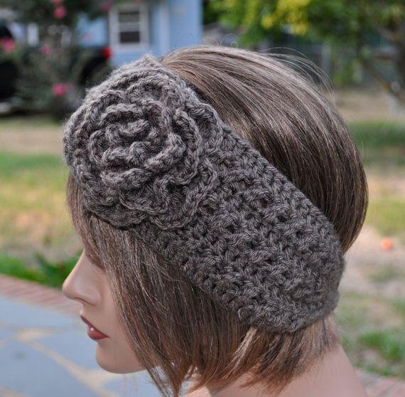 Crochet Ear Warmer for women, Soft yarn Head wrap, Crochet Headband ...