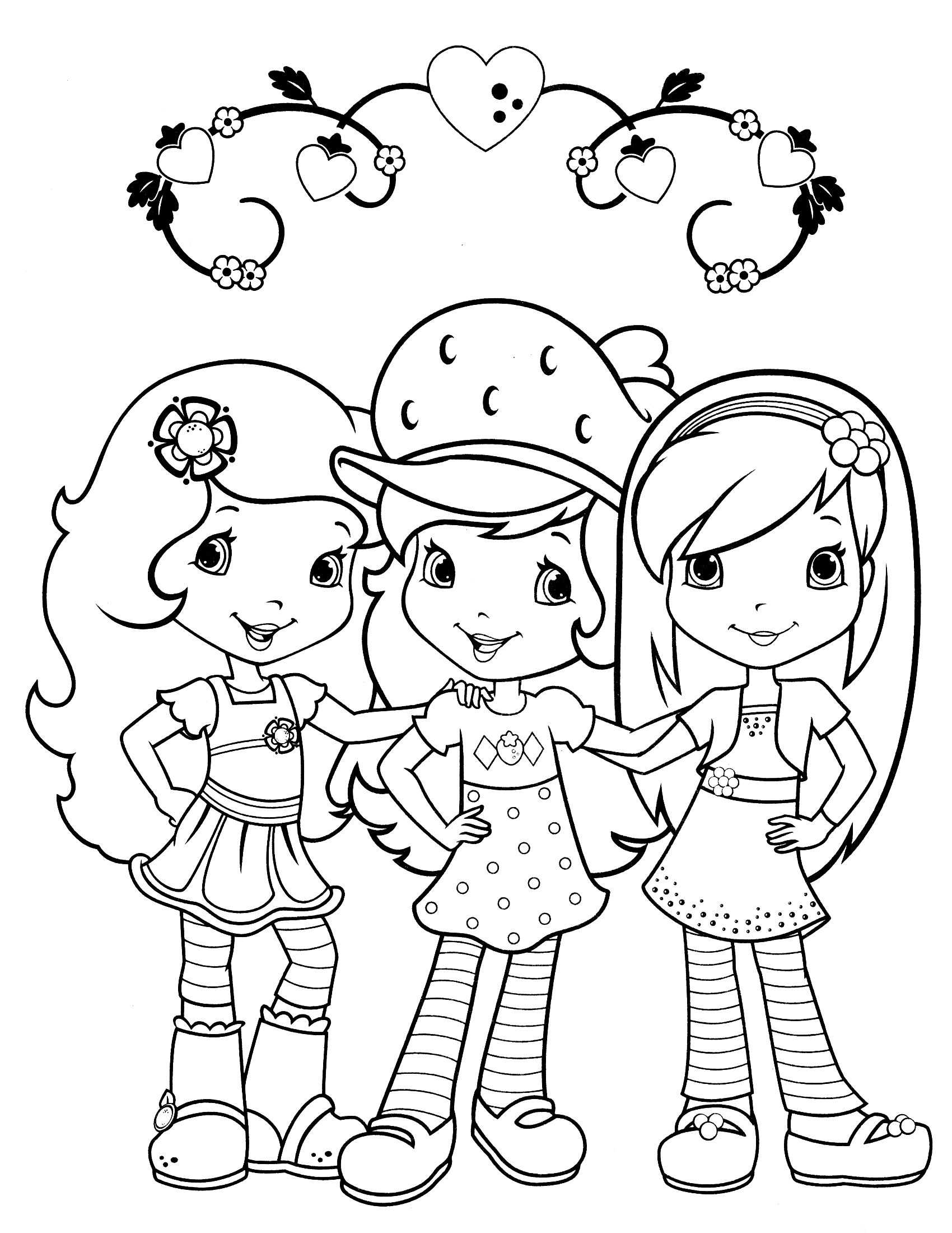 strawberry shortcake coloring page | Вышивка (Embroidery ...
