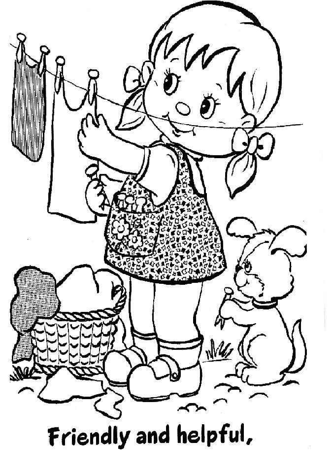 Niña tendiendo | Dibujos y láminas infantiles | Pinterest | Imagenes ...