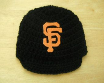 San Francisco Giants, Inspired Crocheted  Baseball newsboy hat Newborn Photo Prop