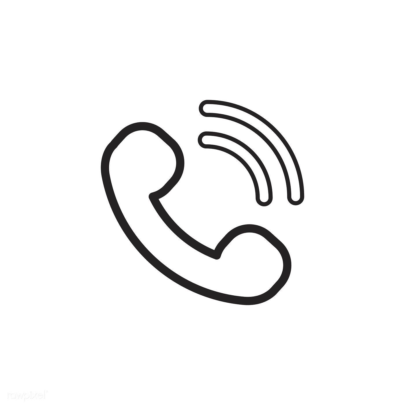 Download Premium Vector Of Calling Phone Icon Vector 533365 App Icon Minimalist Icons Iphone Icon