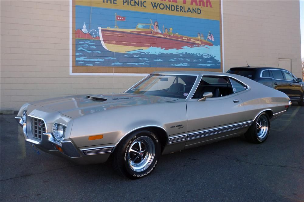 1972 Ford Gran Torino Custom Fastback Front 3 4 138824 Muscle Cars Ford Torino Classic Cars