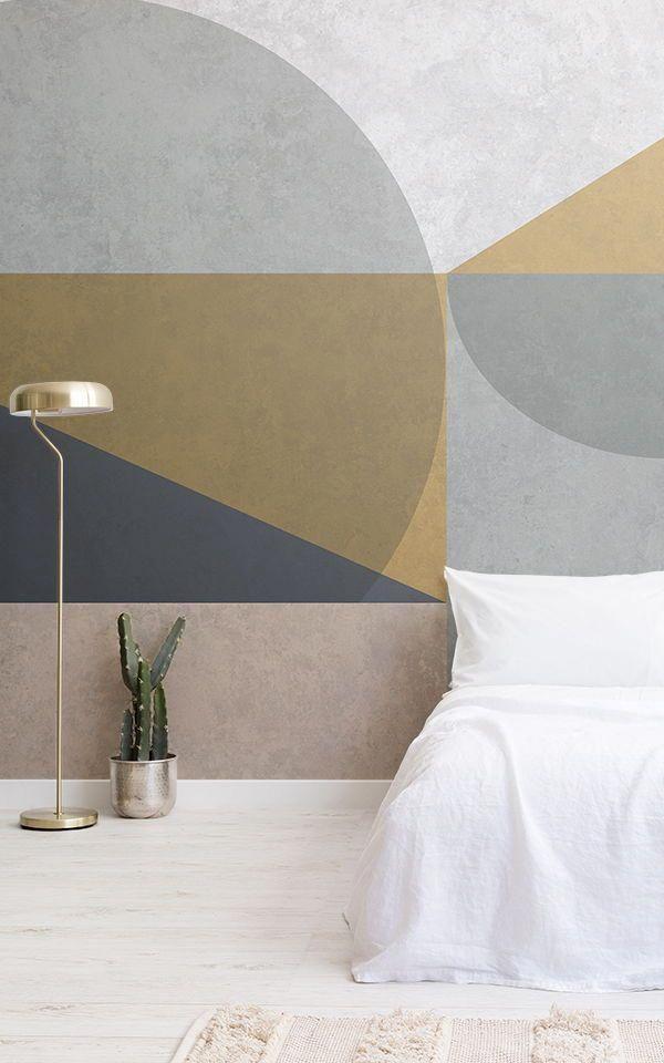Raffreddare idee camera da letto geometriche create con