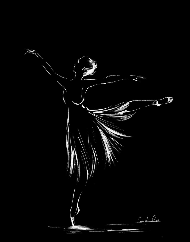 Ballerina ink art print