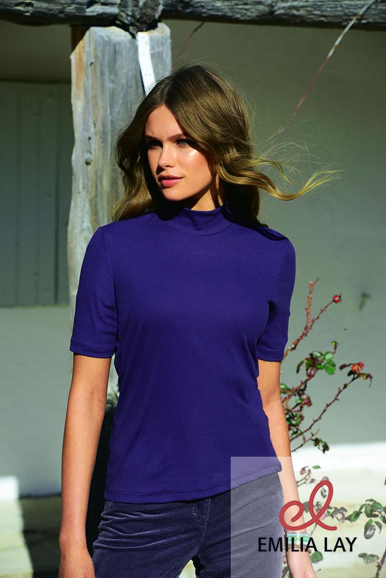 Rundhals-Shirt mit 1/2-Arm von Efixelle