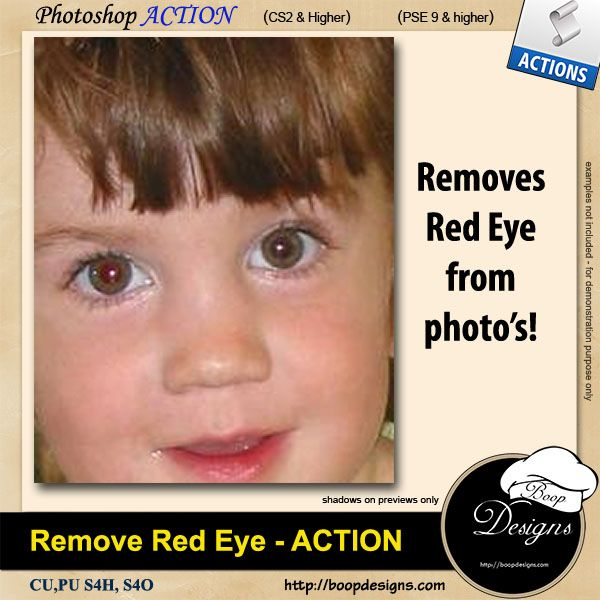 Remove Red Eye from Photo's by Boop Designs