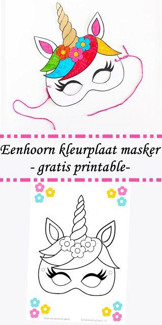 Gratis Printable Eenhoorn Masker Feestelijke Inspiratie