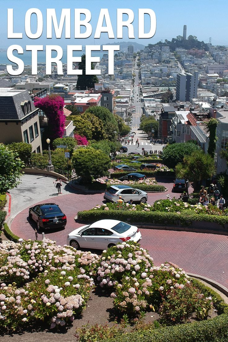 Lombard Street San Francisco Famous Crooked Landmark Map Your
