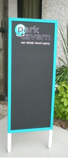 Customize a chalkboard sign with colors and graphics to make it unique! These work well in schools as well as restaurants and retail stores.