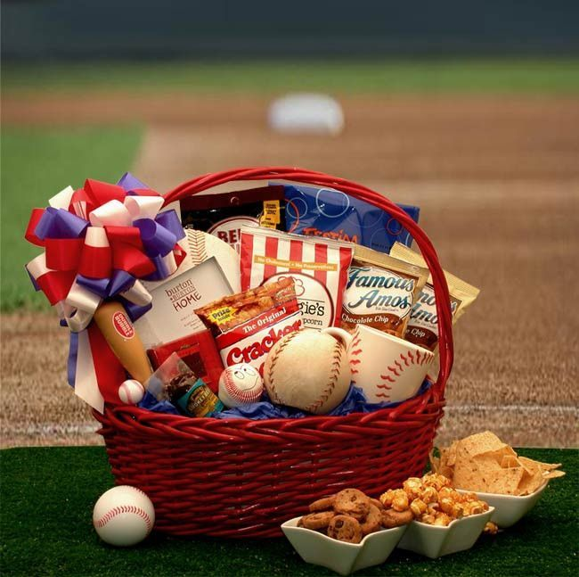 Its a hit take them out to the ballpark with this nostalgic american baseball fanatics gift basket its a hit take them out to the ballpark with this nostalgic baseball lovers gift basket negle Image collections