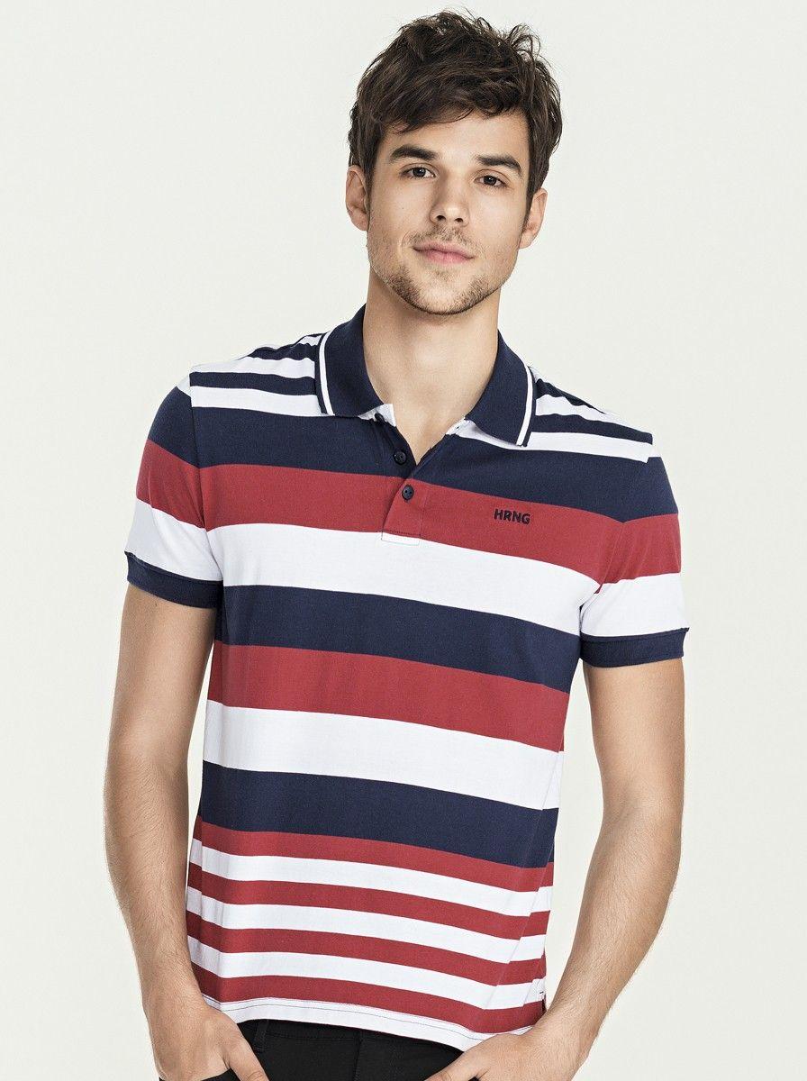 A camisa polo masculina com modelagem regular em algodão 50391c89f7e96