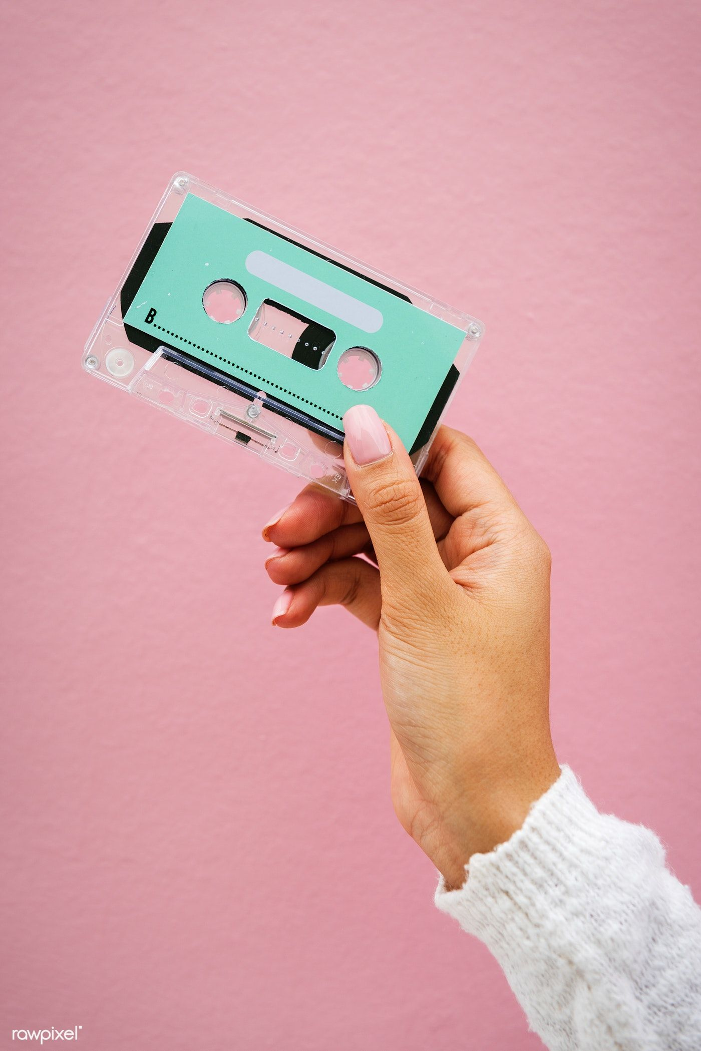 Download Premium Image Of Closeup Of Hand Holding Design Space Cassette Cassette How To Draw Hands Cassette Tapes
