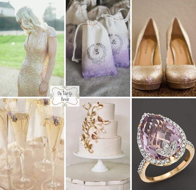 Lavender And Gold Wedding Inspiration On The Go Bride