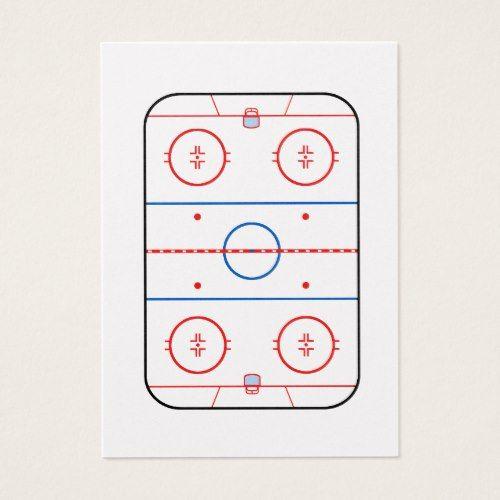 Ice Rink Diagram Hockey Game Companion Business Card Hockey Games