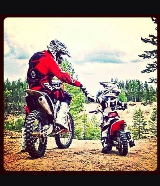 Like Father Like Son Dirt Bikes Dirtbikes Motocross
