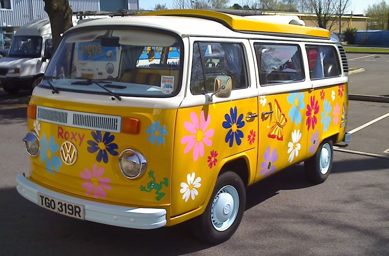 Flower Power Was A Slogan Used During The Late S And Early - Magnetic car decals flowers
