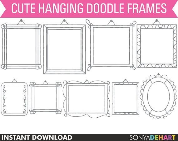 60 OFF Clipart Hanging Frames Hand Doodled By SonyaDeHartDesign Etsy Listing 95414877 Off Handref