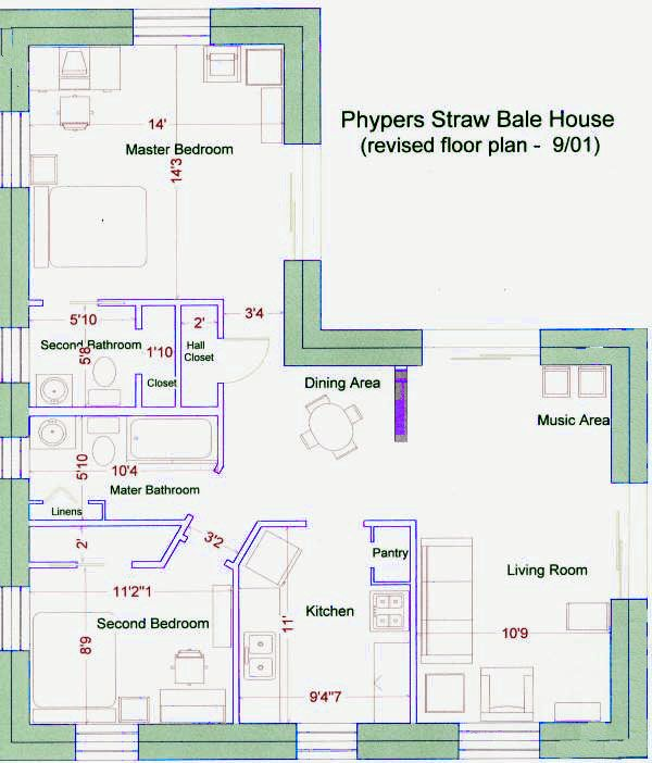 Straw Bale House Floor Plan Straw Bale House Small House Floor Plans House Floor Plans
